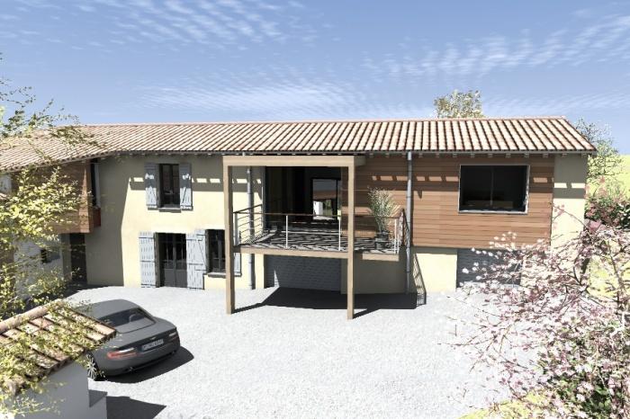 Réaménagement et extension d'une bâtisse : Claudel-PRJT-AXONO_4