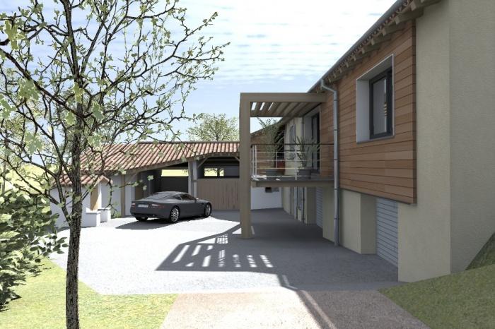 Réaménagement et extension d'une bâtisse : Claudel-PRJT-EXT_9