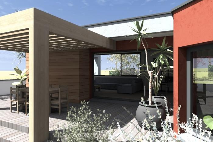 Réaménagement et extension d'une bâtisse : Claudel-PRJT-EXT_2