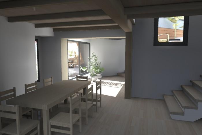 Réaménagement et extension d'une bâtisse : Claudel-PRJT-CUISINE_1