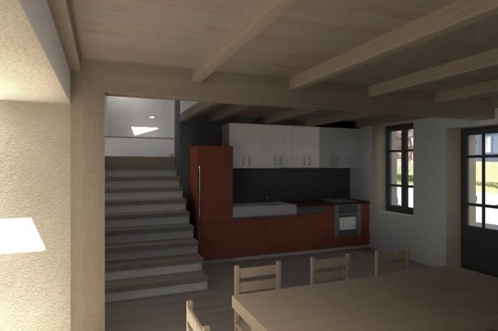 Réaménagement et extension d'une bâtisse : Claudel-PRJT-CUISINE_2