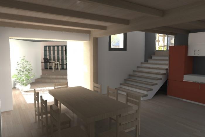 Réaménagement et extension d'une bâtisse : Claudel-PRJT-CUISINE_4