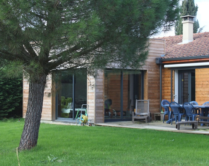 architectes extension ossature bois pour. Black Bedroom Furniture Sets. Home Design Ideas