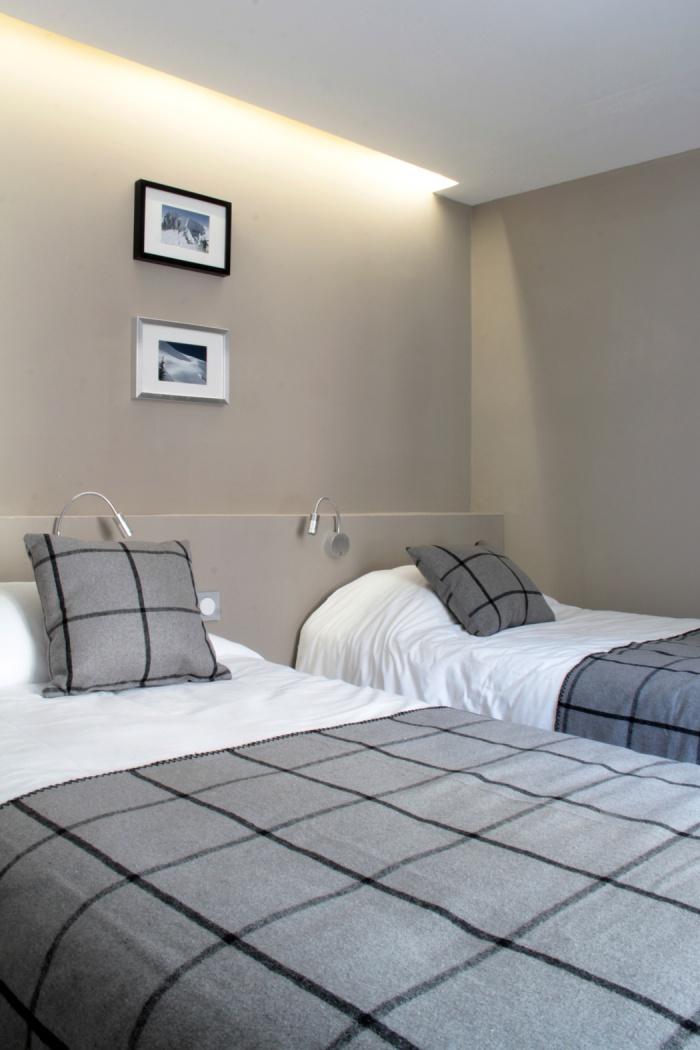 Le Clos Saint Louis : chambre deux lits