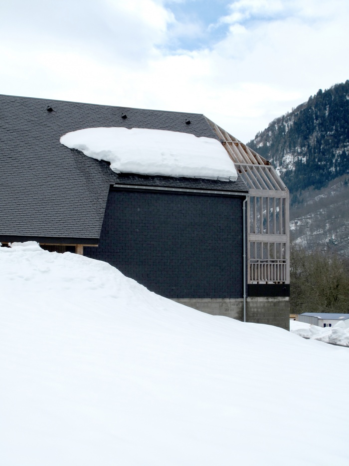 Maison N : vue façade nord