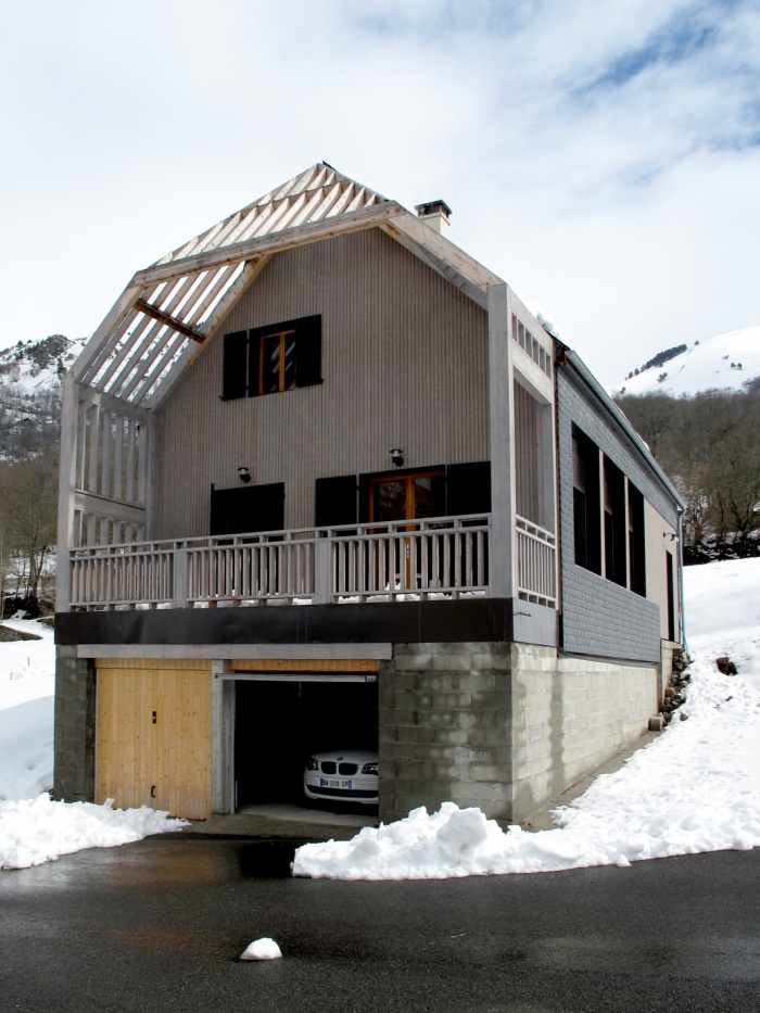 Maison N : vue façade sud