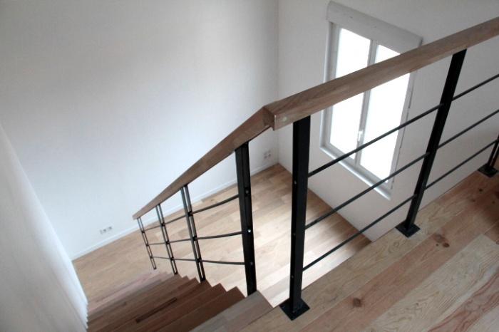 Maison R : escalier mezzanine 1