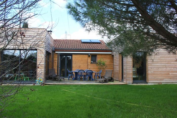 Extension ossature bois pour maison individuelle for Extension maison lotissement