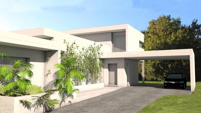 architectes maison contemporaine tage fronton. Black Bedroom Furniture Sets. Home Design Ideas