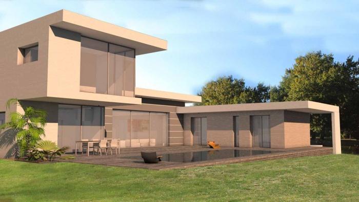 Architectes maison contemporaine porte for Architecte toulouse maison contemporaine