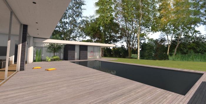 Villa d'architecte contemporaine à patios : villa-exception-maison-architecte-dedans-dehors-pierres-patios-toulouse-10