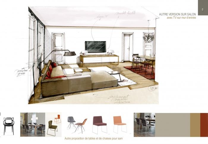 Avant projet appartement quartier des Chalets 31 : 10 salon copie