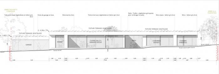 Maison P1 : Facade sud