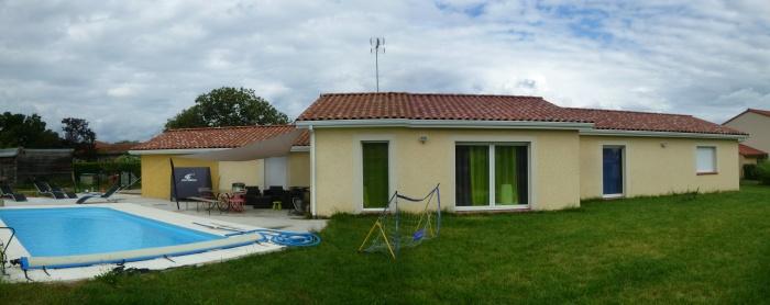 Extension Maison A à Plaisance du Touch : 2 Existant 2 jardin Andreu