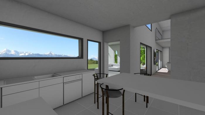 Maison contemporaine à tuiles noires et terrasse couverte à ...