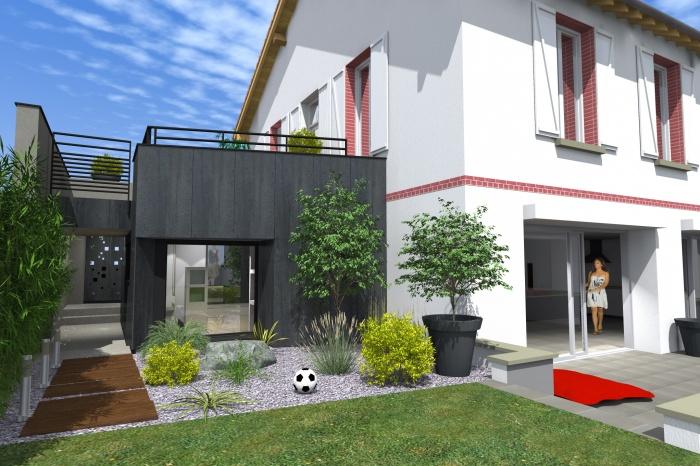 r novation maison de ville toulouse une r alisation de d l architectes. Black Bedroom Furniture Sets. Home Design Ideas