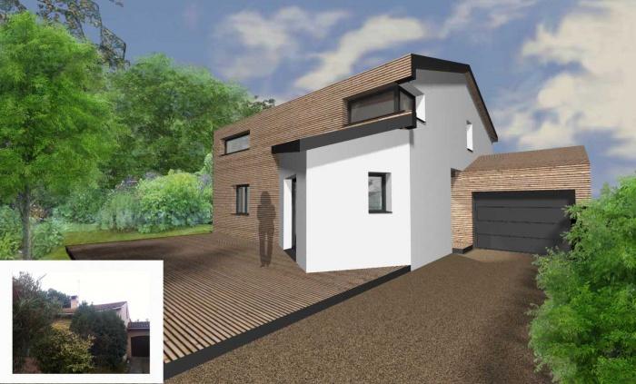 sur l vation d 39 une maison blagnac une r alisation de laurence roques. Black Bedroom Furniture Sets. Home Design Ideas