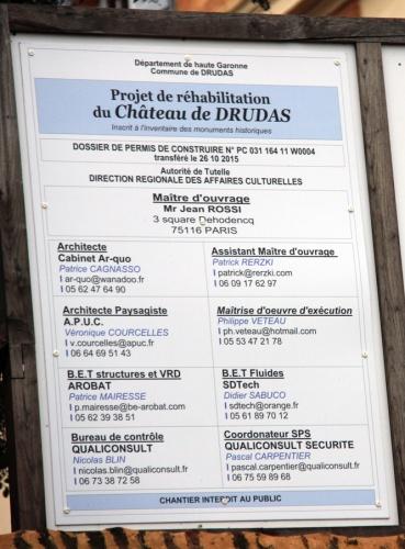Réhabilitation du Chateau de Drudas : Chantier Drudas