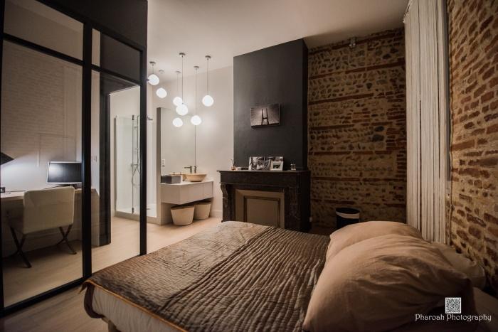 Création d\'un bureau et d\'une salle d\'eau dans une chambre à ...