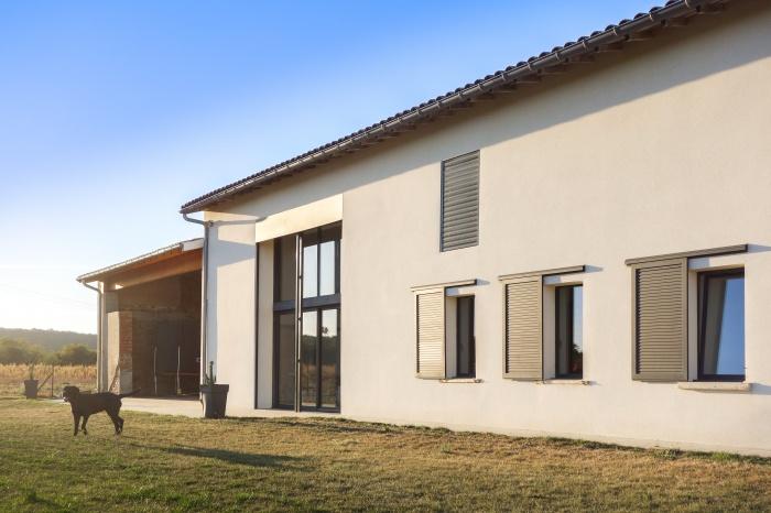 Rénovation d'une grange : Rénovation d\'une grange extérieur 2