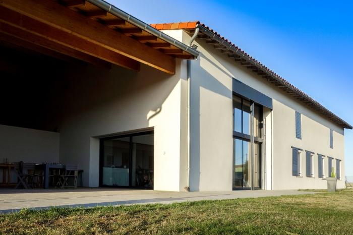 Rénovation d'une grange : Rénovation d\'une grange extérieur 3