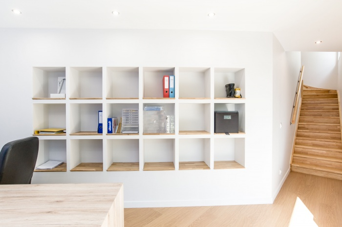 Extension et surélévation d'une maison individuelle : Bibliothèque