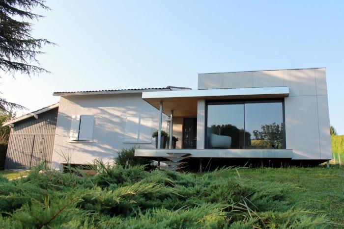 maison g extension en ossature bois r gion toulouse une r alisation de atelier d. Black Bedroom Furniture Sets. Home Design Ideas
