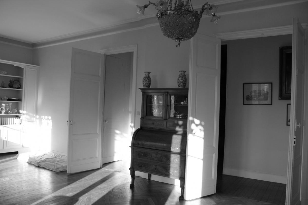 Rénovation d'un appartement 19ème et création d'un duplex : salon avant