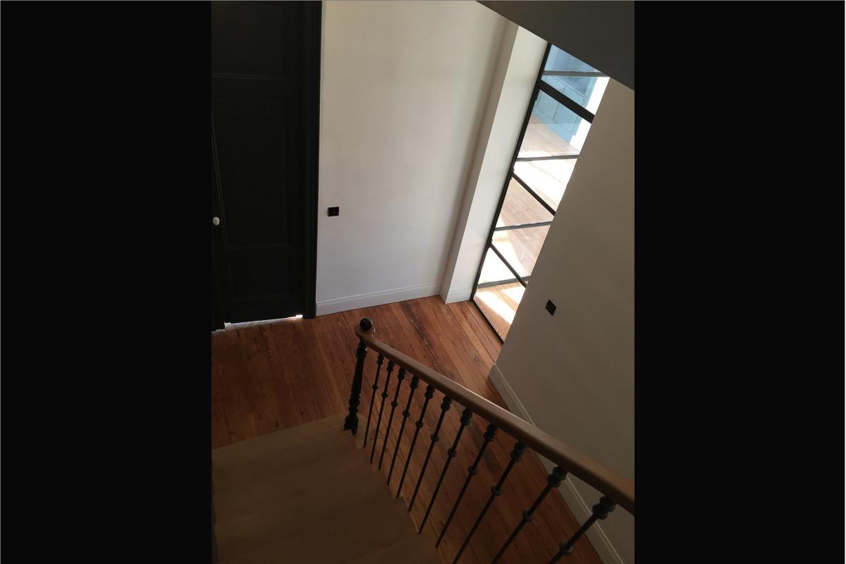 Rénovation d'un appartement 19ème et création d'un duplex : escalier bis