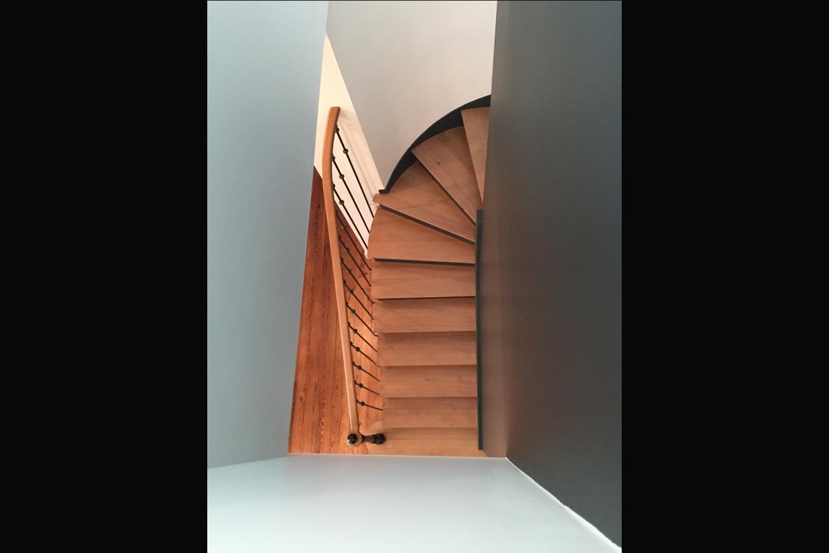 Rénovation d'un appartement 19ème et création d'un duplex : escalier ter