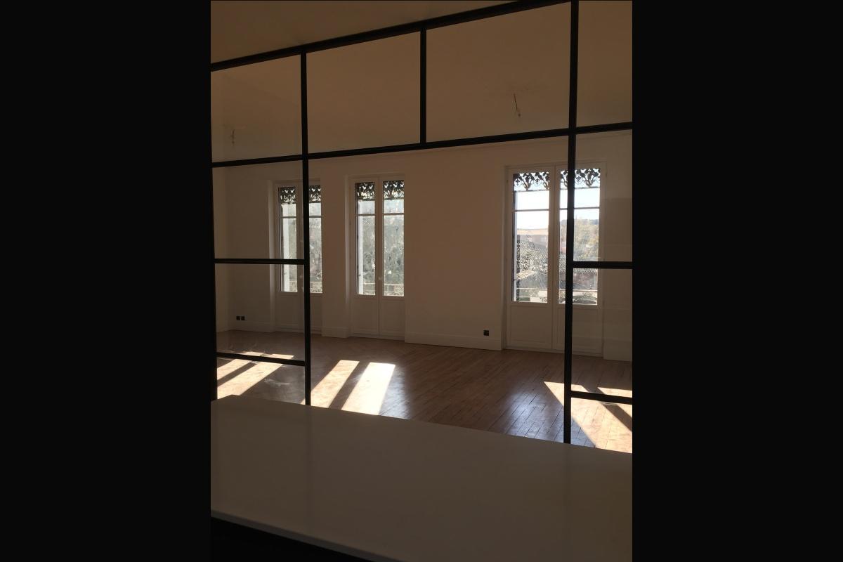 Rénovation d'un appartement 19ème et création d'un duplex : vue façade