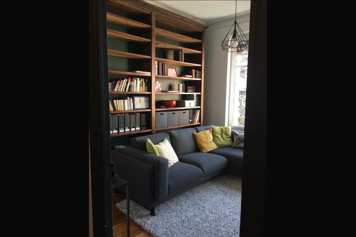 Rénovation d'un appartement 19ème et création d'un duplex : bureau TV