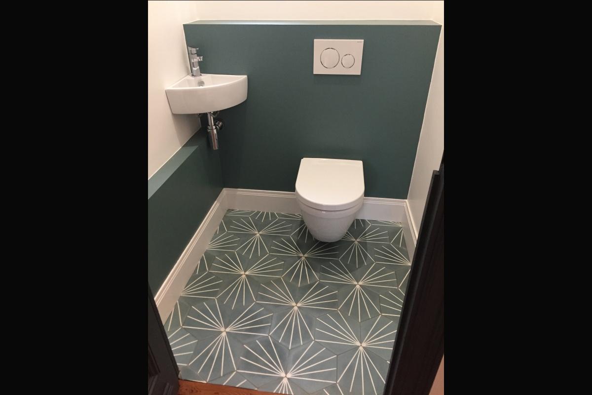 Rénovation d'un appartement 19ème et création d'un duplex : WC