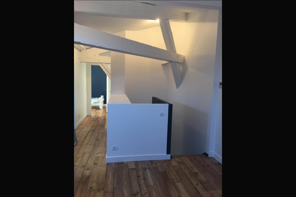 Rénovation d'un appartement 19ème et création d'un duplex : pallier