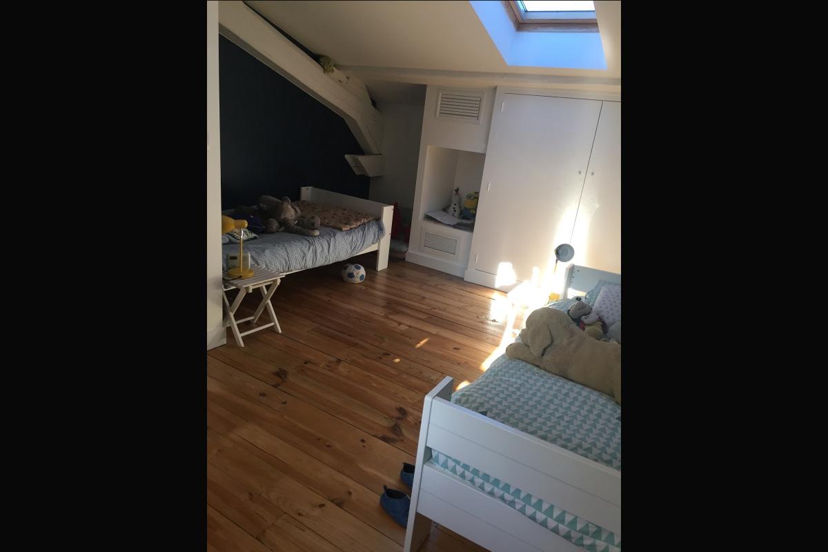 Rénovation d'un appartement 19ème et création d'un duplex : chambre garçons