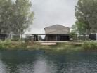 Extension d'une maison au bord d'un lac