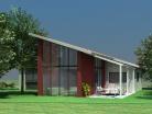 Maison à toit monopente