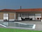Maison contemporaine RT2012 - Toit tuiles & terrasse