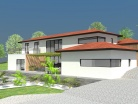 Construction d'une maison à demi-niveaux sur terrain en pente