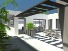 Maison de ville contemporaine à patio