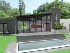 Construction d'une maison contemporaine à toits terrasse et zinc