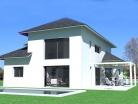Construction d'une maison contemporaine dans le style béarnais