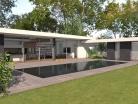 Villa d'architecte contemporaine à patios