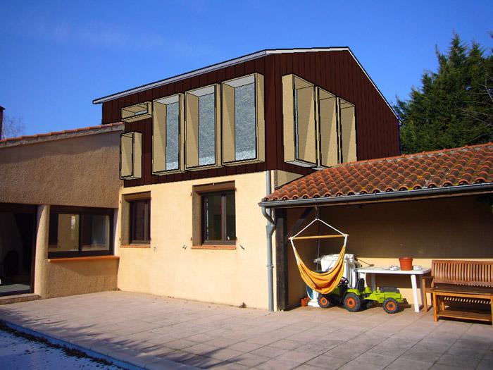 extension maison individuelle bioclimatique 32 auch une r alisation de nes n 39 co. Black Bedroom Furniture Sets. Home Design Ideas