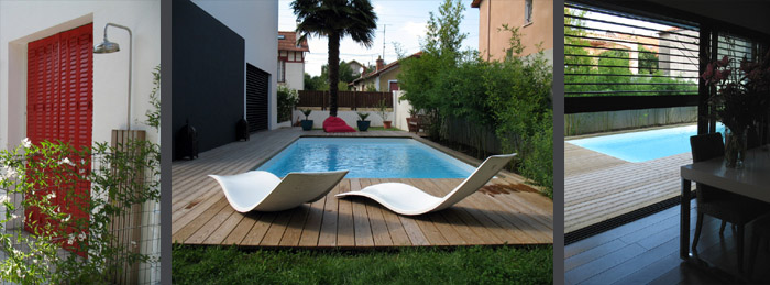 pin la piscine douche piscine et plage vue depuis l int rieur on pinterest. Black Bedroom Furniture Sets. Home Design Ideas