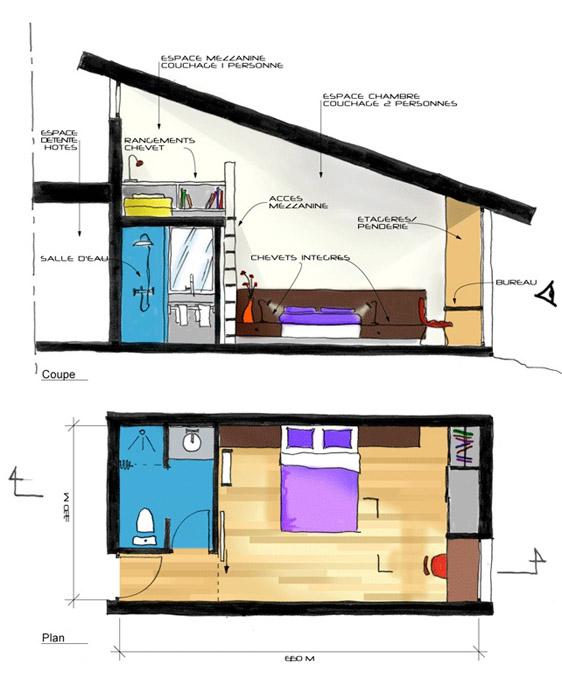 Architectes maison avec chambres d 39 h tes 31 bretx for Plan amenagement maison d